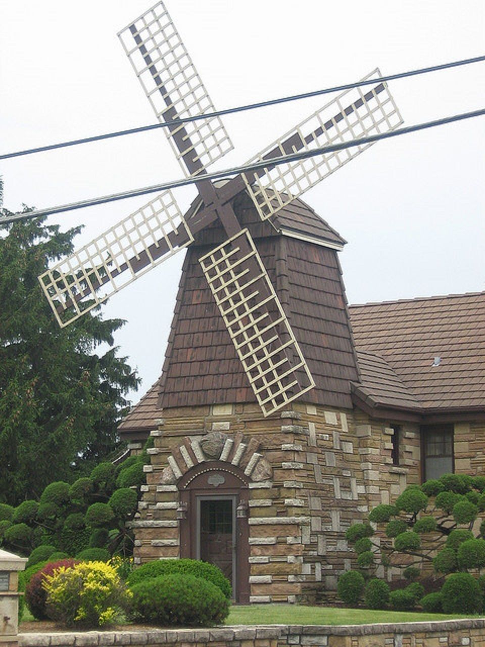 Old Fashioned Houses windmill house - wheaton, illinois: - built in 1942 from materials