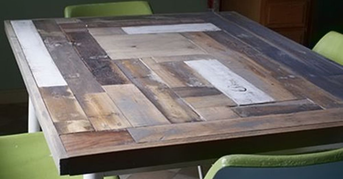 Reclaimed Wood Table Top Resurface DIY