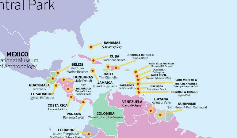 This Map Shows Every Countryu0027s Most Popular Tourist Attraction - best of world map with ecuador
