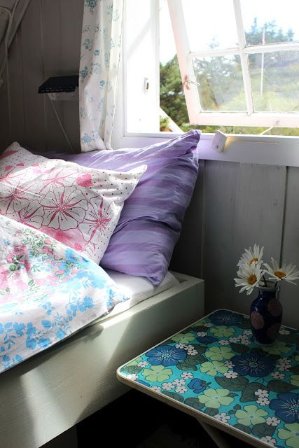 sommerhus, retrostof, soveværelse, pigeværelse - 4 etg