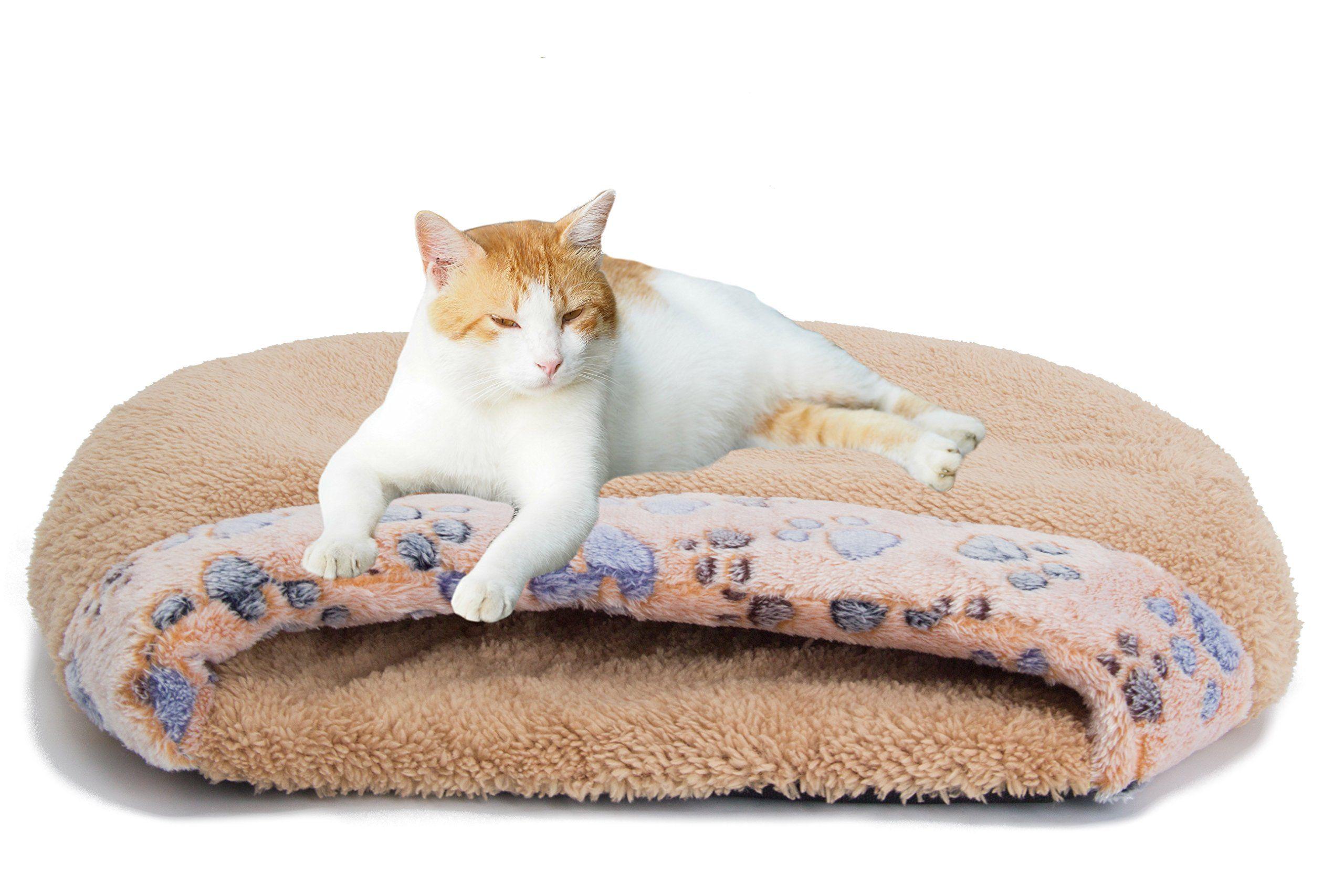 Miluck Pet Cat Bed Cat Sleeping Bag Soft Warm Windproof Waterproof Pet Bed House For Dog Cat Kitten Indoor Outdoorsbrown W Cat Bed Cat Sleeping Dog House Diy