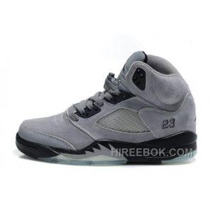 new style e0f75 02c57 Men Women NK Air JD 5 Retro Suede Leather Gray Christmas Deals W4keCBJ  Leather Sneakers