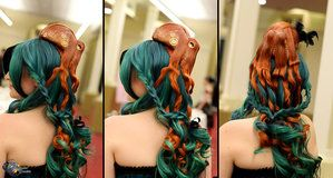 Octopus Hairpiece by deeed - super cool!  She also has an etsy shop.  Love, love, love these!