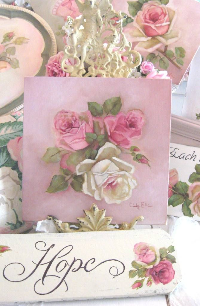 Cindy Ellis Romantic roses, Rose decor, Shabby chic