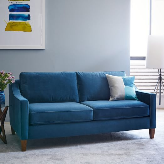 Paidge Sofa West Elm Blue Brown And Beige Only 1000 For