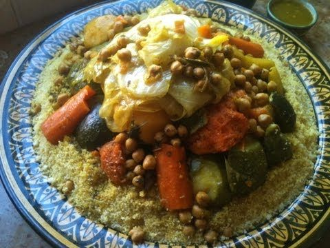 Moroccan Couscous With Vegetables And Beef الكسكس المغربي بالخضر Moroccan Couscous Moroccan Food Moroccan Dishes