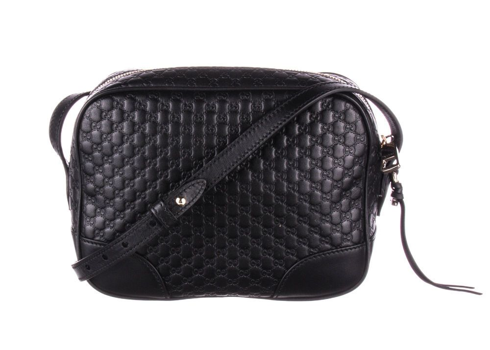 98fb6e57ed5b GUCCI Black Micro Guccissima Leather Mini Bree Messenger Bag #fashion  #clothing #shoes #accessories #womensbagshandbags (ebay link)
