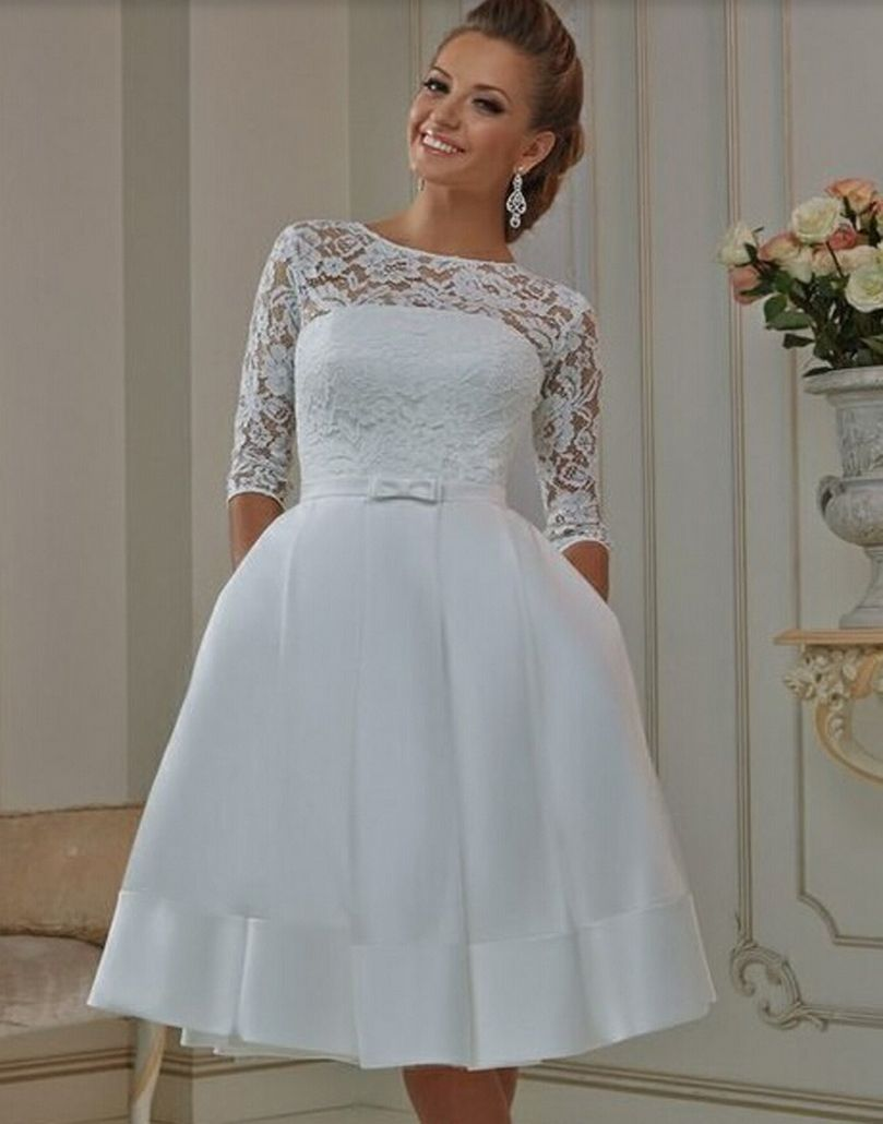 70+ Elegant Vintage Chiffon Tea Length Wedding Dresses Trends and ...