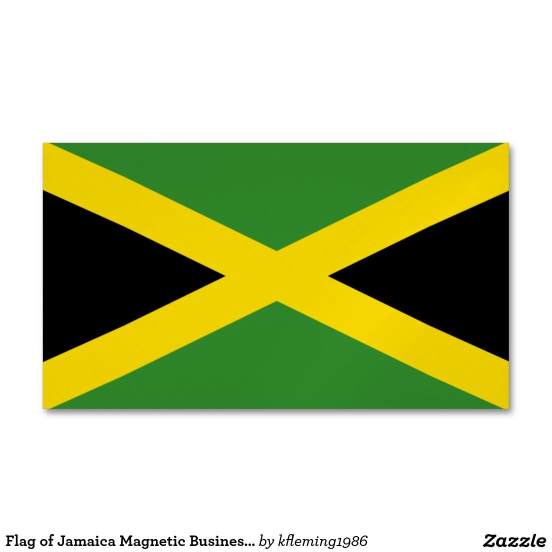 Flag Of Jamaica Magnetic Business Cards Magnetic Business Cards