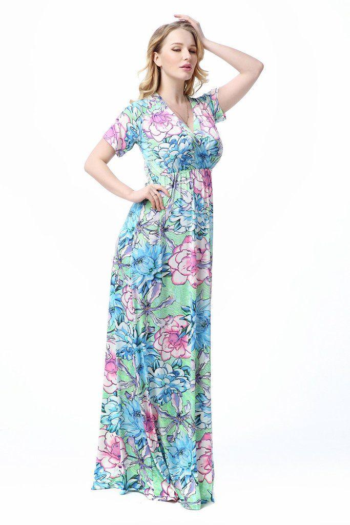 Bohemian Plus Size Beach Dresses