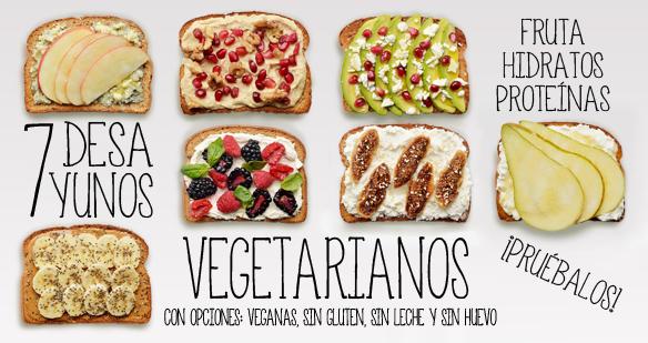 7 Desayunos Vegetarianos Nutritivos Desayuno Vegetariano Desayunos Saludables Desayuno