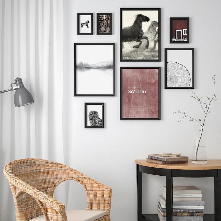 Knoppang Cadre Avec Image 8 Pieces Nordique Ikea Ikea Decoration Saisonniere Cadre