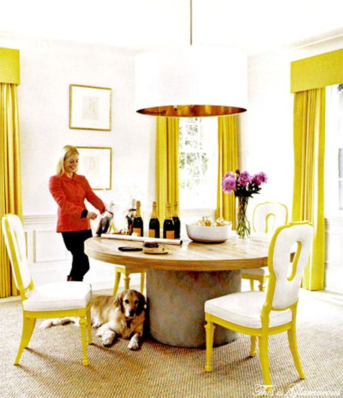 Yellow  Lee Kleinhelter  Home  Pinterest  Hgtv Interiors And Interesting Grey And Yellow Dining Room Review