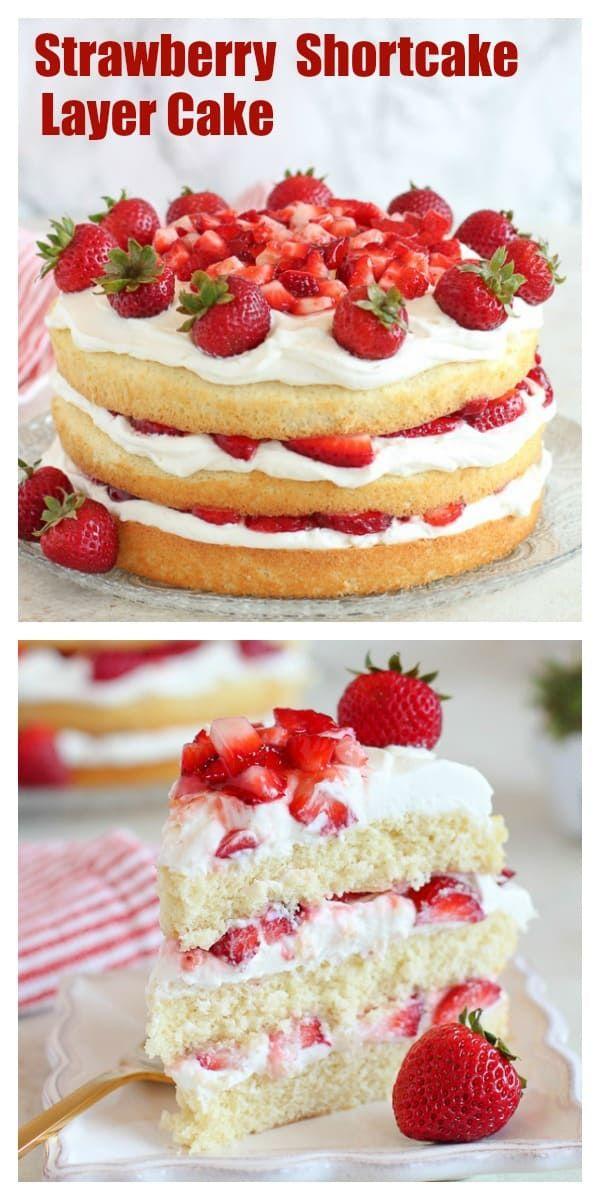 Strawberry Shortcake Cake - Celebrating Sweets