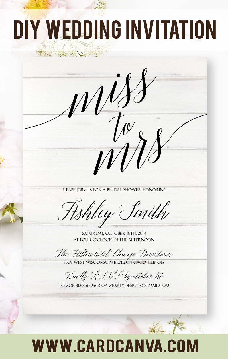 Calligraphy Templates Online This Faux Wood Bridal Shower Invitation Is So Cute Perfect For A