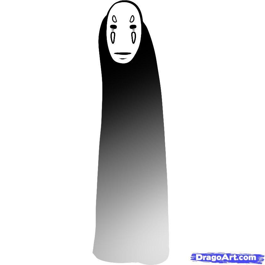 How To Draw No Face Spirited Away No Face Step 6 Spirited Away Drawings Guided Drawing