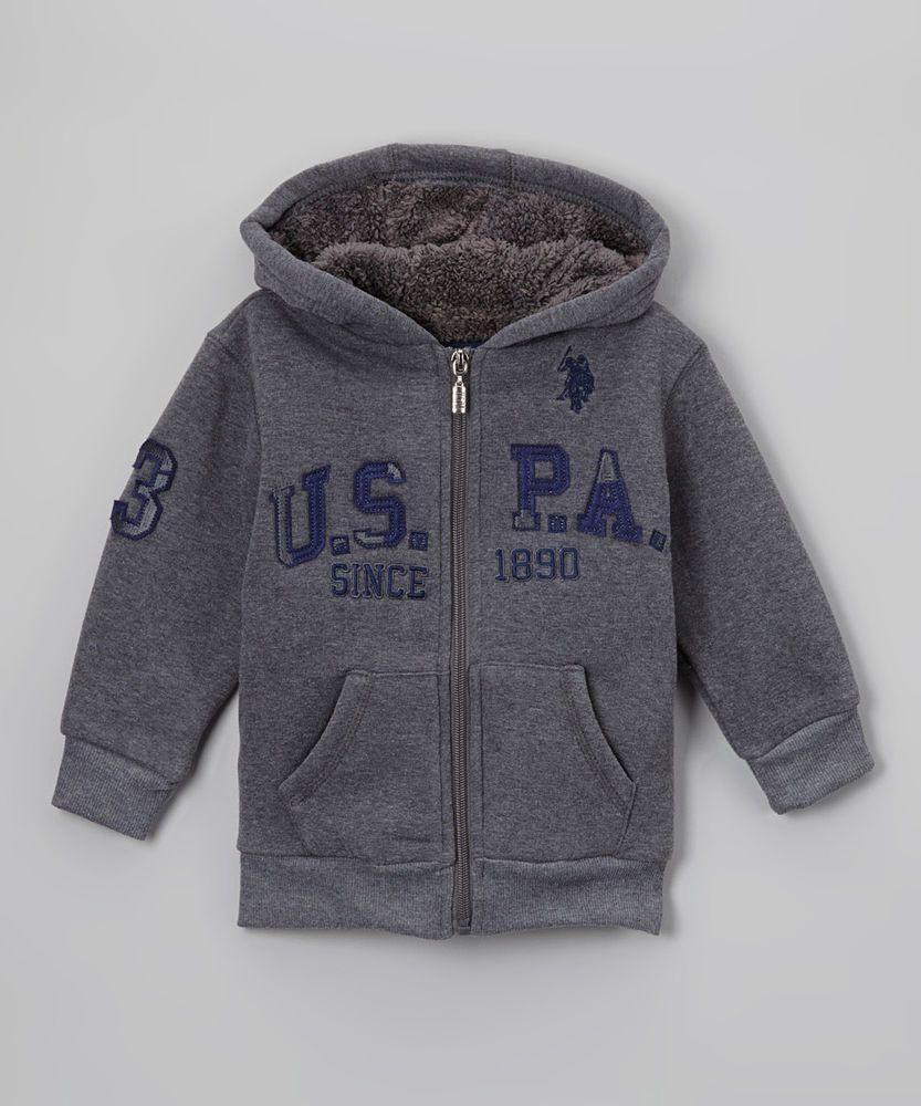 Mens Classic Sport Sherpa Hoodie Hooded Sweatshirt Polo Assn U.S