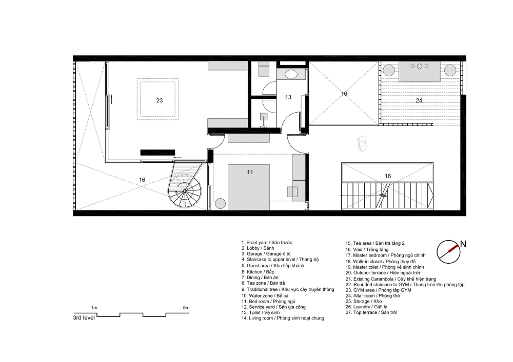 Gallery Of 7x18 House Ahl Architects Associates 42 Simple House Design Open House Plans Open Floor House Plans