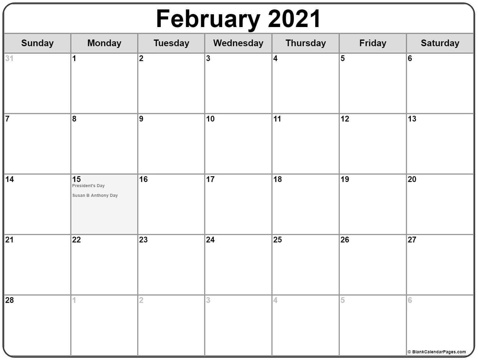 Calendar 2021 February March Canada In 2020 Monthly Calendar Printable February Calendar Free Printable Calendar Monthly