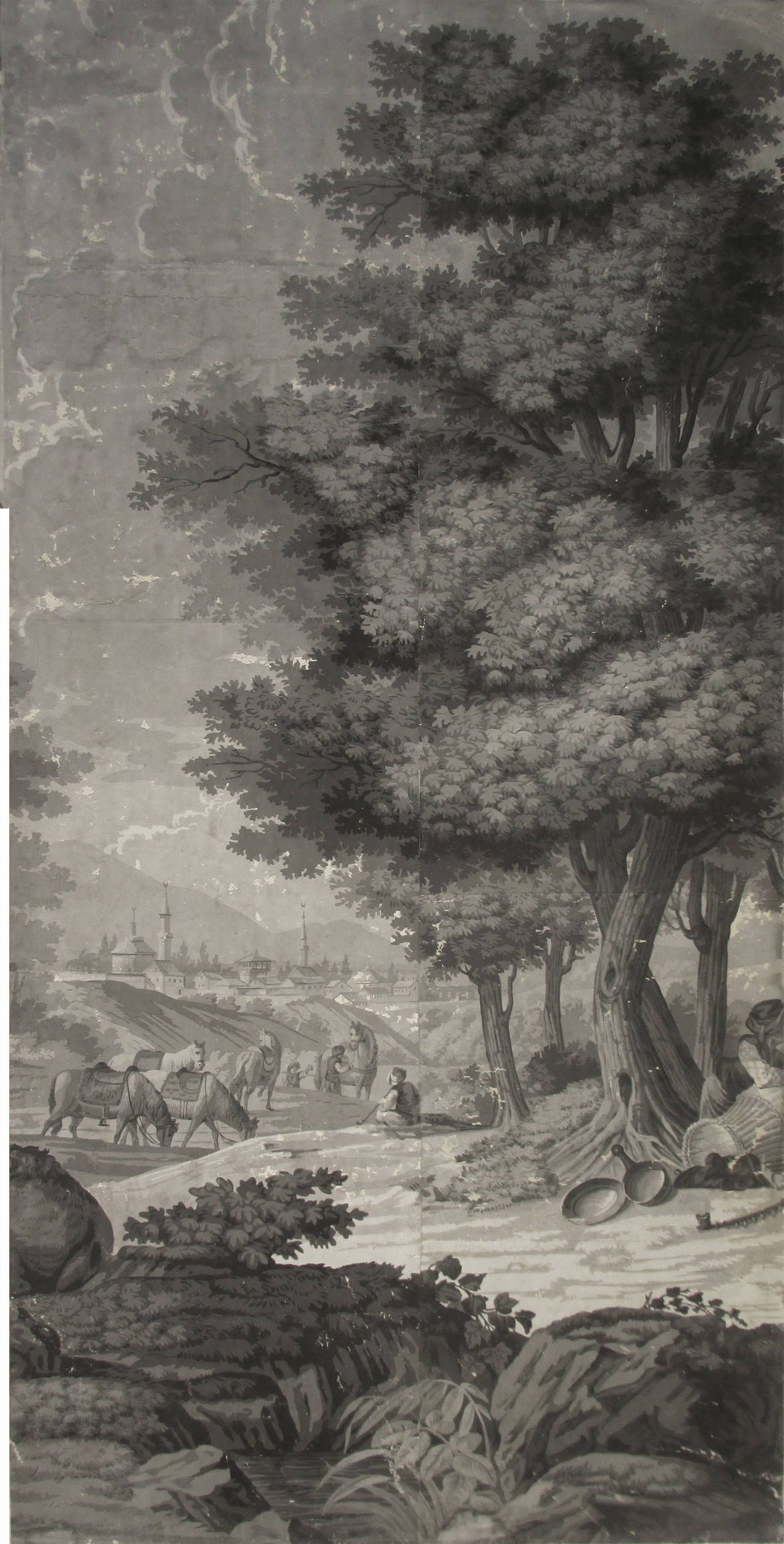 21 Wallpaper Panels By Joseph Dufour Et Cie After Comte De Choiseul Gouffier Landscape Wallpaper Scenic Wallpaper Vintage Landscape