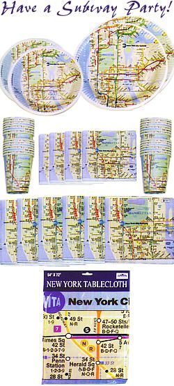 Nyc Subway Map Paper.Subway Map Paper Cups Plates And Napkins Also Available B E N
