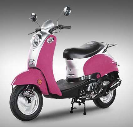 50cc Retro Pink Panther Scooter Moped (Extreme Blowout