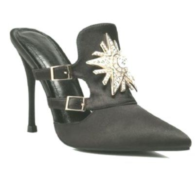 Hanbaidi High Heels Sommer Schuhe Frauen Seide Pantoletten Strass Spitz Kristall ...