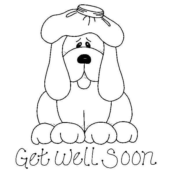 9652 Get Well Fido Rubber Stamp Sku E570 Fall Coloring