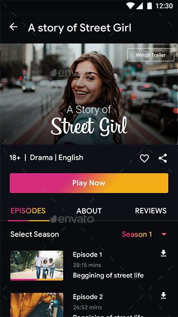 Online Movie Video Streaming App Pocket Movies App Template Movie App Video Streaming