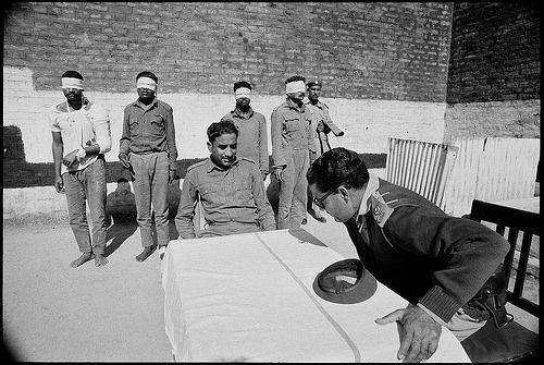 Abbas Attar  Indian troops were detained in a Pakistani Camp of Bogra, East Pakistan, 1971. Major Phul Singh of the 4th Madras of Indian Force sat left.