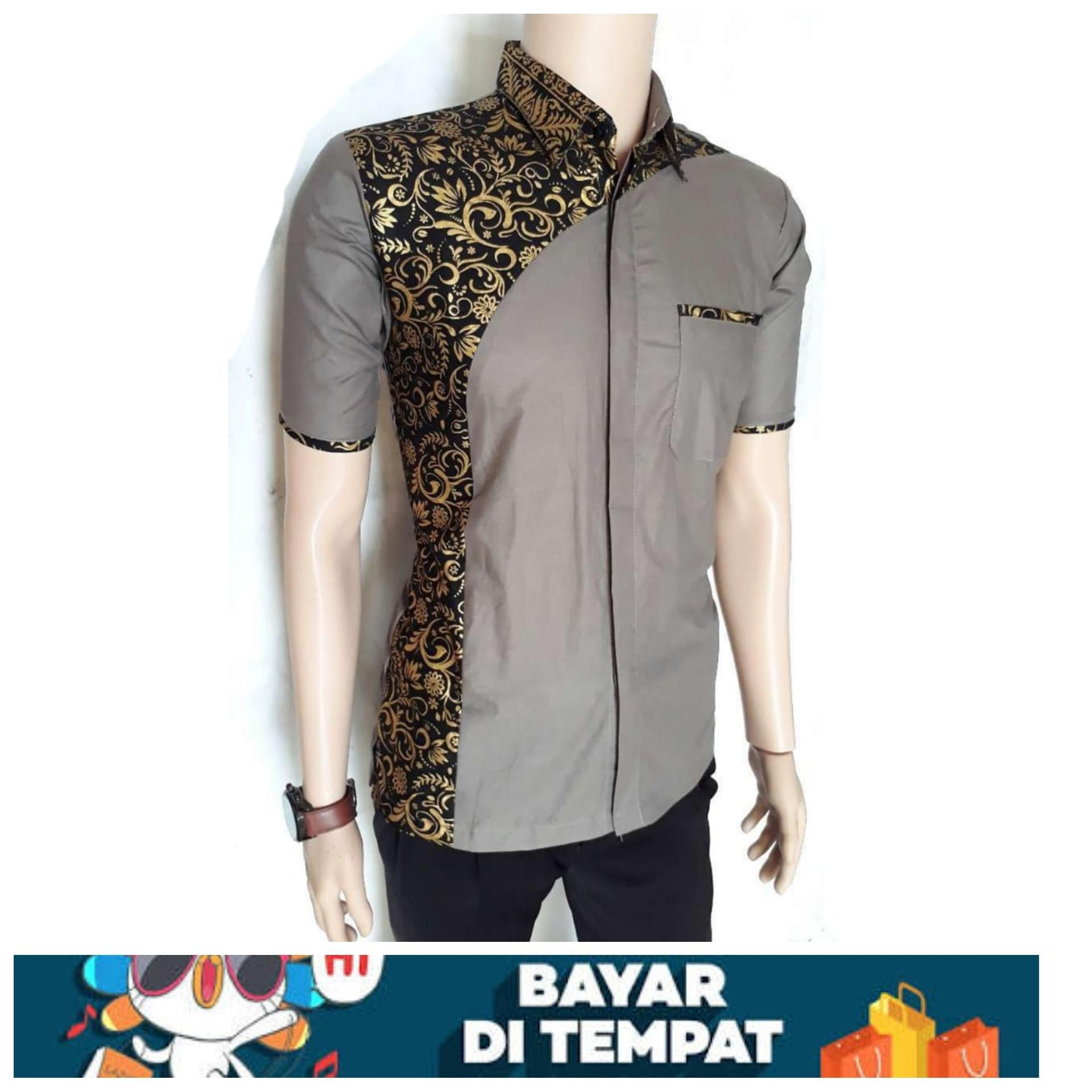 Model Kemeja Batik Pria Kombinasi  Model baju pria, Kemeja, Model