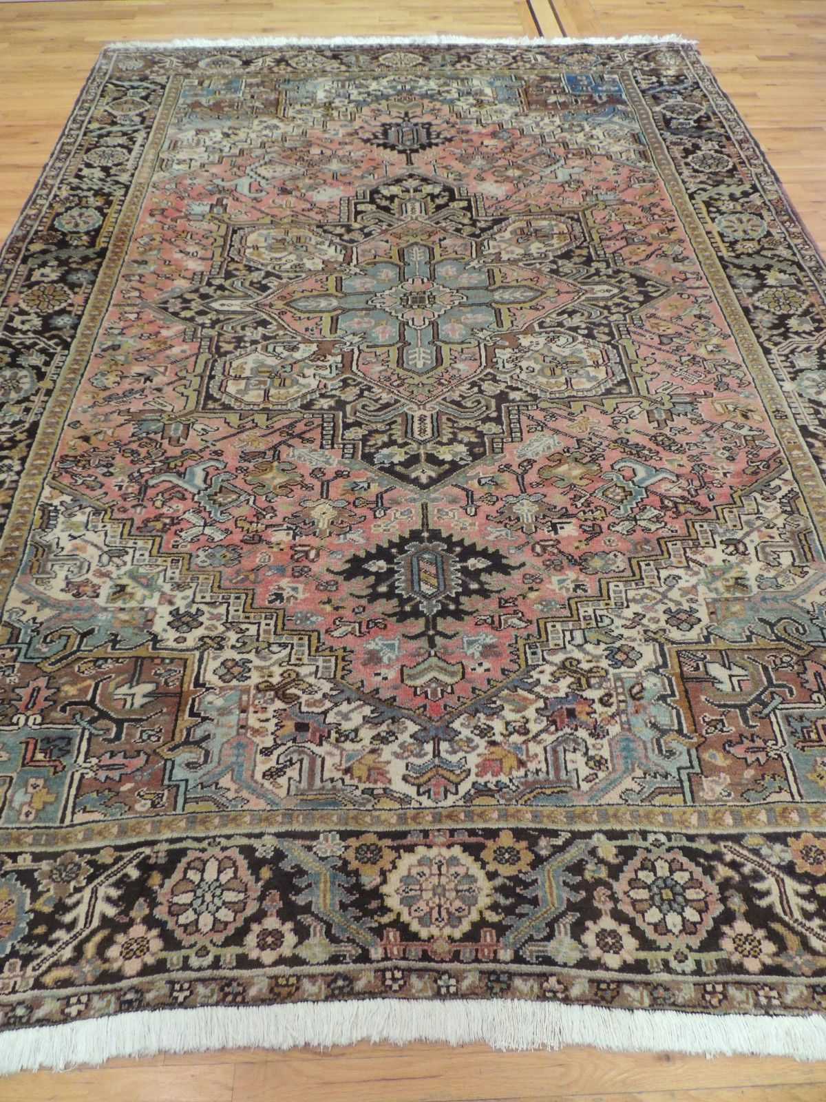Unusual Size Antique Persian Heriz 8x12 9x12 Oriental Area Rug Striking Persian Heriz With A Gorgeous Blue X2f G Oriental Area Rugs Area Rugs Wool Area Rugs