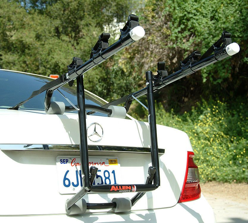 Allen Sports Deluxe 3 Bike Trunk Mount Bicycle Rack For