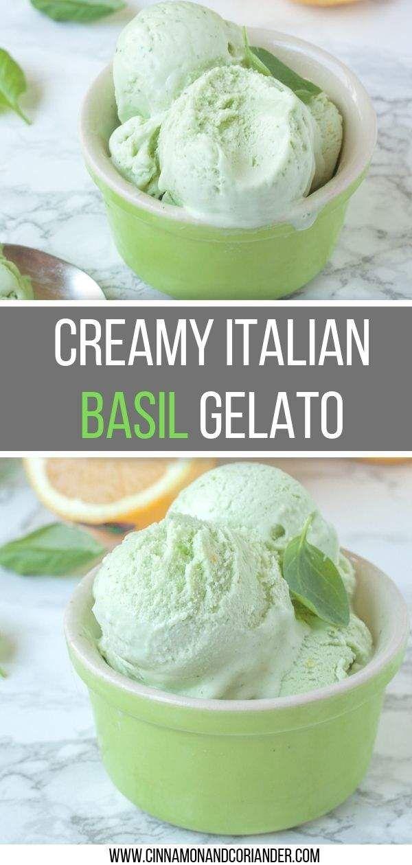Creamy Basil Ice Cream Recipe - gelato just like in Italy