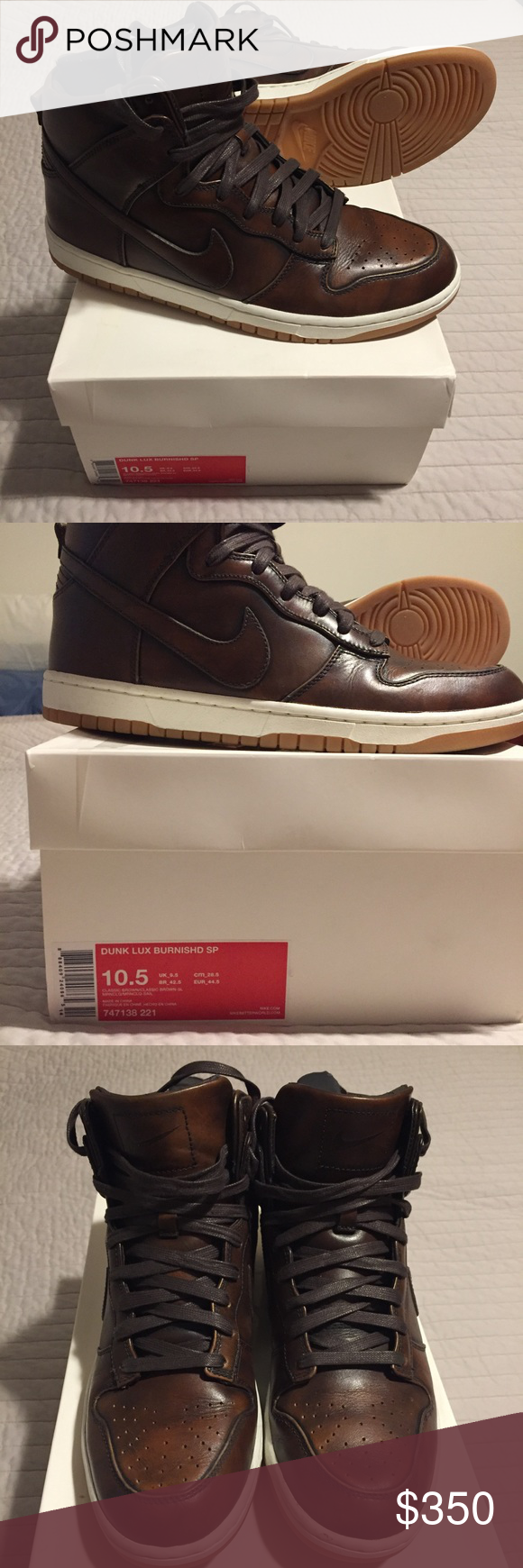 save off 53a27 dc8ca Nike Dunk High Lux SP Burnished Leather size 10.5 Mens size 10.5. Barely  worn. Excellent condition. Premium leather upper with a gum rubber sole.