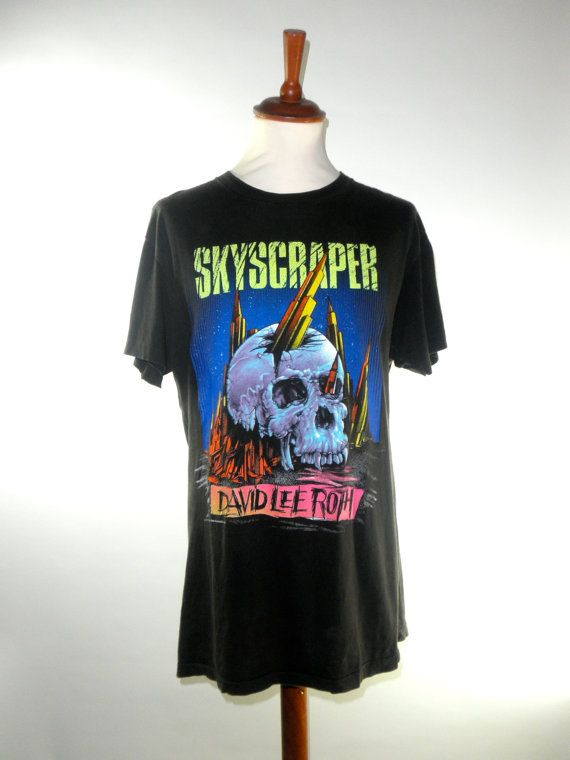 0a16aed14d5 1988 David Lee Roth SKYSCRAPER Tour Tee Size by PacificWonderland
