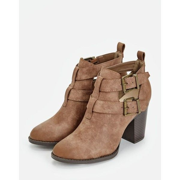 a443114a43d6 Justfab Booties Julina ( 40) ❤ liked on Polyvore featuring shoes ...