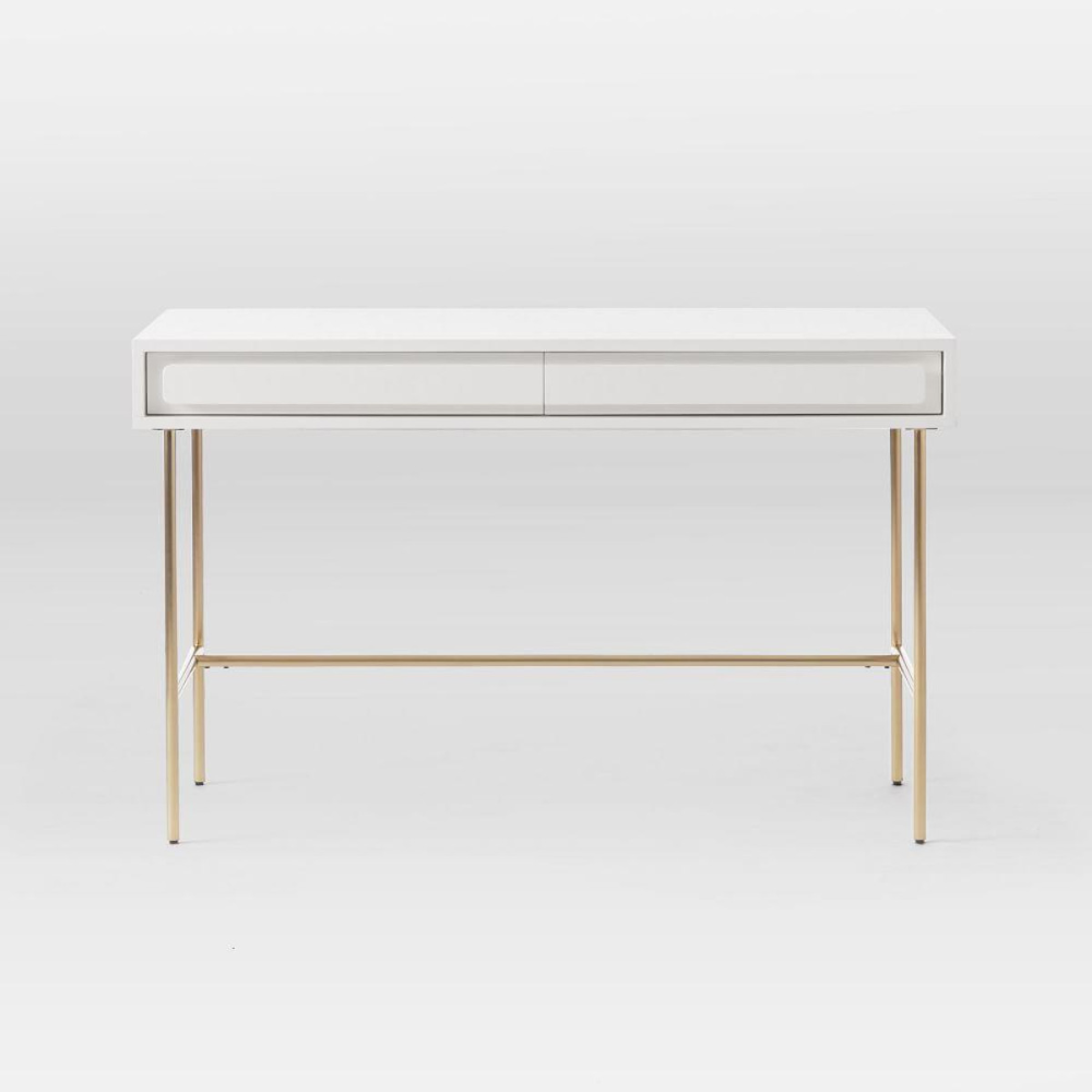 Gemini Desk White Lacquer White Desks Furniture Modern Furniture