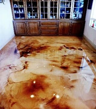 Diy Countertop Bar Top And Flooring Epoxy Countertops Stained Concrete