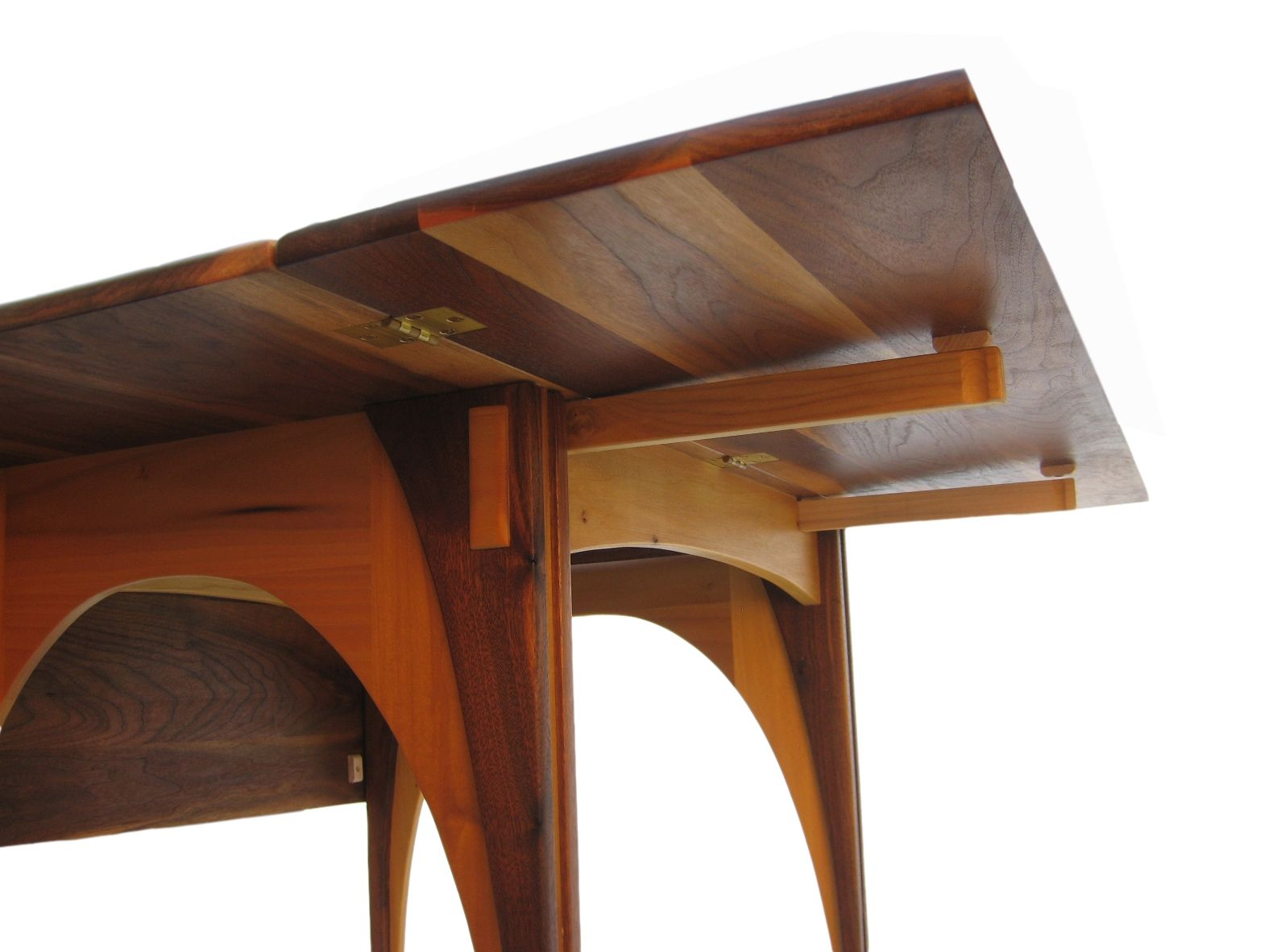 Drop Leaf Dining Table Solid Walnut 48 Inches Square Seats 8