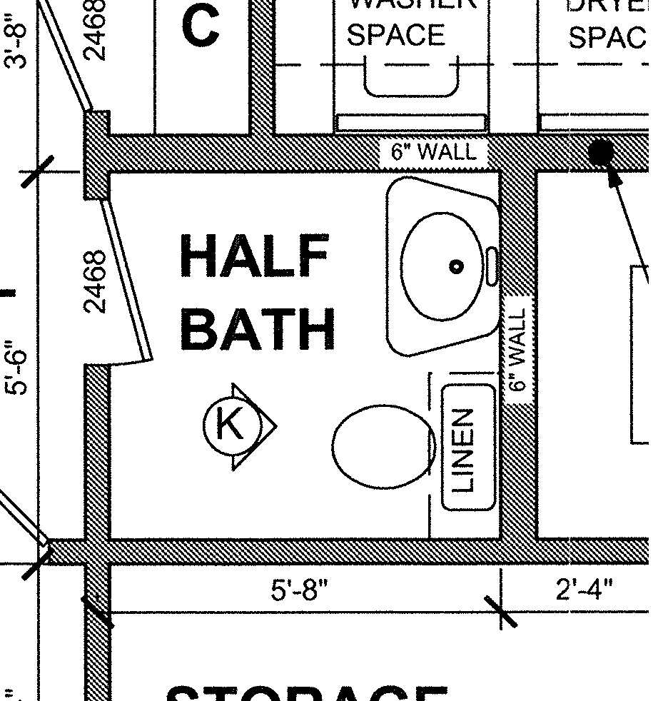 5 x 8 bathroom floor plans - Small Half Bathroom Floor Plans Google Search