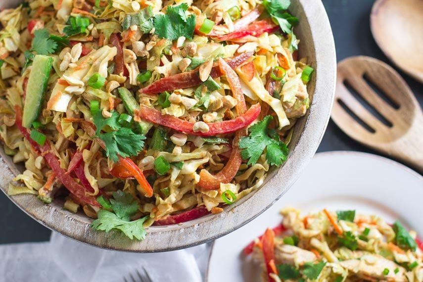 Salade de poulet asiatique à faible teneur en FODMAP - FODMAP au quotidien