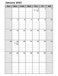 2015 monthly calendar portrait 15 organizing pinterest 2015