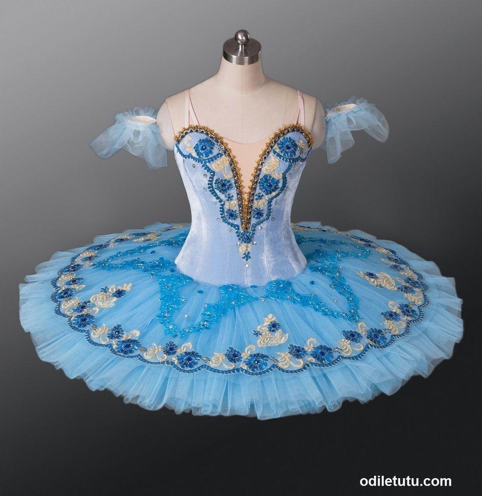 215cdbe78906 Professional Classical Ballet Tutu Sleeping Beauty blue bird Dance Costume