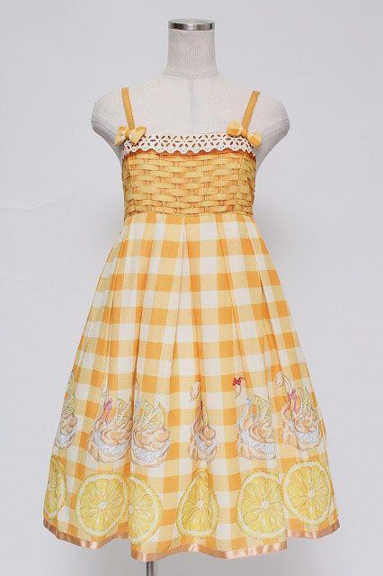 Emily Temple Cute / LEMON Swan Shoe Ribbon Dress   Closet Child Online Shop