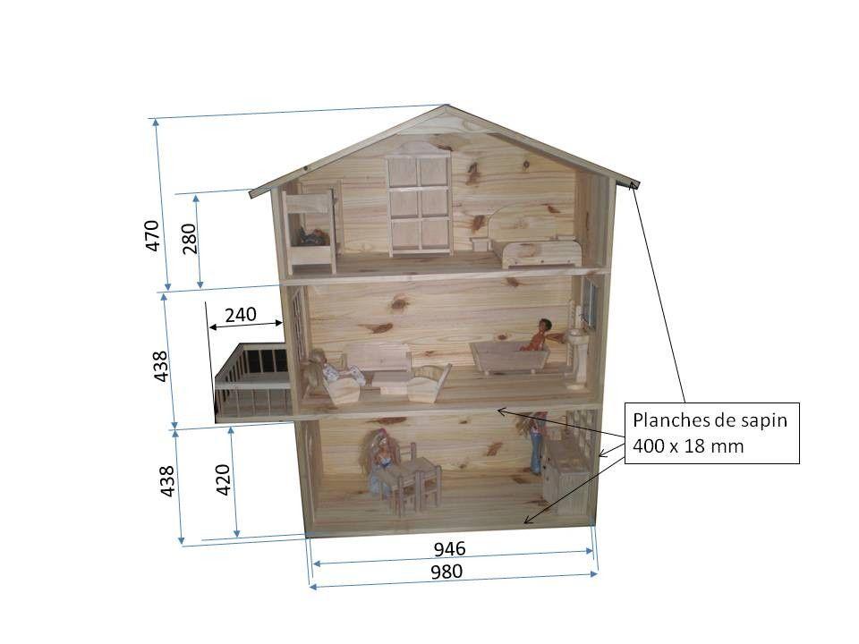 plan maison barbie