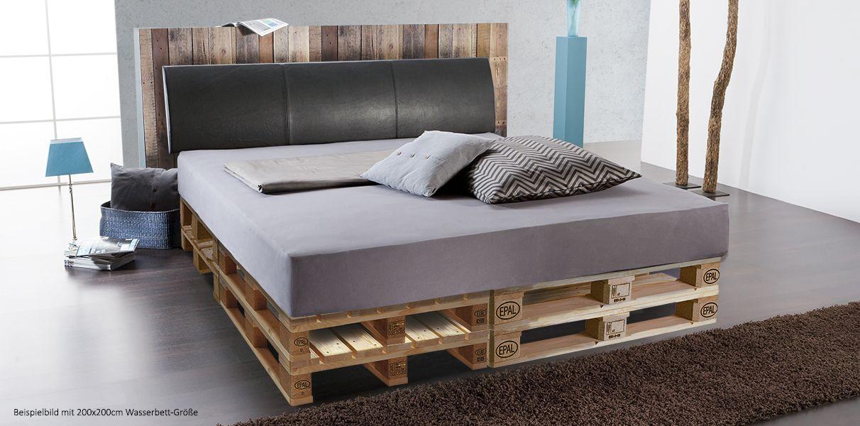 softside wasserbett mit palettenbett podest kaufen in 2019 paletten bett wasserbett bett. Black Bedroom Furniture Sets. Home Design Ideas