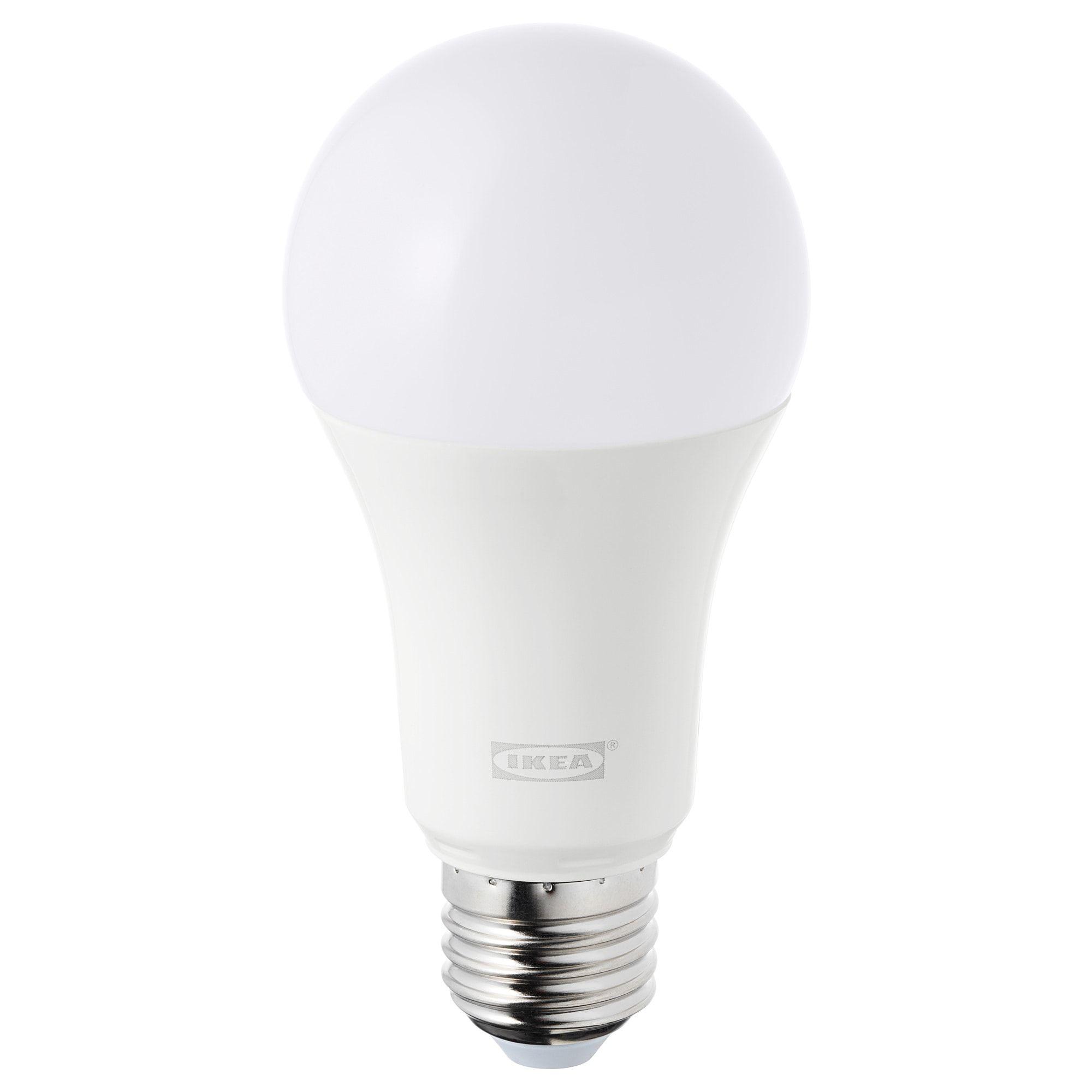 Led Leuchtmittel E27 980 Lm Tradfri Kabellos Dimmbar Weissspektrum Opalweiss Led Leuchtmittel Leuchtmittel E27 Und Ikea Led