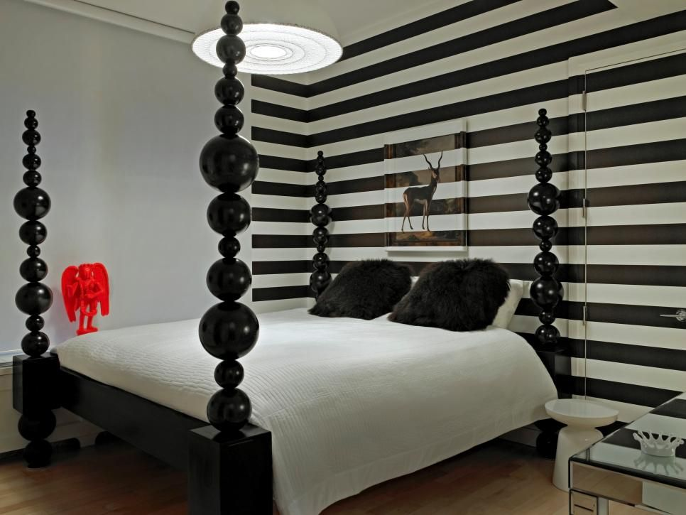 Rooms Viewer White Bedroom Decor Striped Walls Accent Walls In Living Room