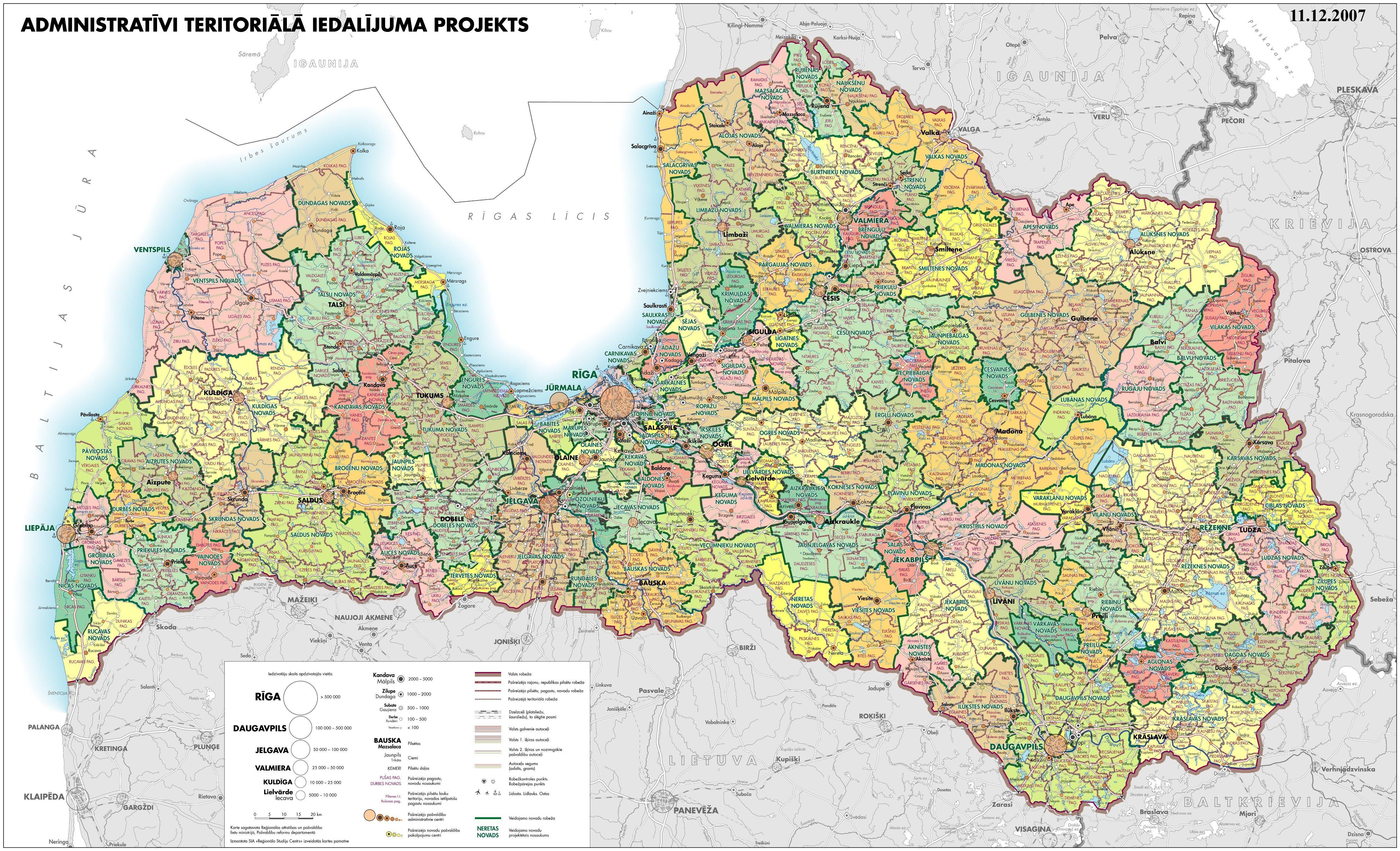Latvijas Karte Novadi Rajoni Map Detailed Map Vintage World Maps